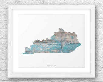 Kentucky Map, Kentucky Print, Kentucky Art, Kentucky State,Minimalist Art, Kentucky Printable,Instant Download, Kentucky Wood Printable