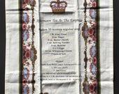 Tea towel; Tea at the Empress; Victorian Tea at the Fairmont Empress; kitchen towel; recipe towel; linen towel; T132