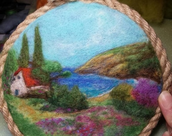 Wool  painting 3D view