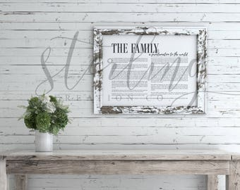 LDS The Family: A Proclamation to the World - Printable