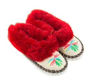 Women's Sheepskin leather Moccasins, lined with 100% wool!