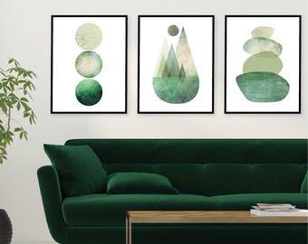 Printable, Downloadable, Gallery Wall, Print Set, Set of 3 Prints, Minimalist, Scandinavian, Scandinave, Mountain, Prints, Art Set, Wall Art