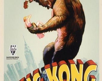 Summer Sale KING KONG Movie Poster (1933)