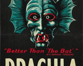Back to School Sale: DRACULA Movie Poster Horror Vampires Universal Monsters