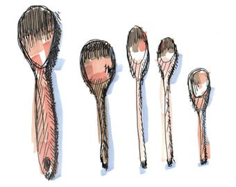 Kitchen Spoon Archival Print