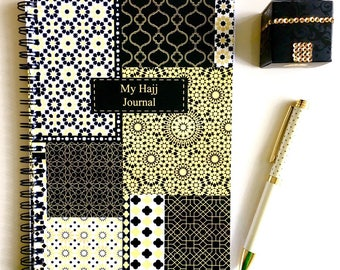 My Hajj Journal, A5 Hajj Notebook Zellige, Eid al Adha  Gift Islamic Book