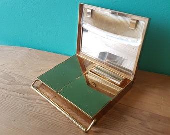 Vintage Brass Veloupte Powder Compact