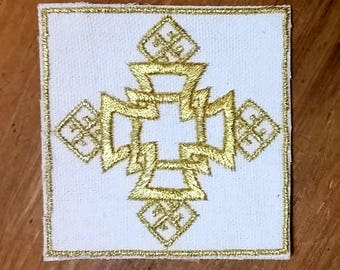 Embroidered Ethiopian Cross Patch