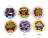 "Guardians of the Galaxy Pins/Magnets 1"", marvel, marvel comics, marvel magnets, marvel pins, groot, starlord, comic book magnets, pinback"
