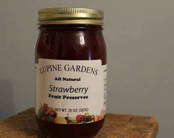 Strawberry Preserves. 20 oz. COMBINED SHIPPING RATES.