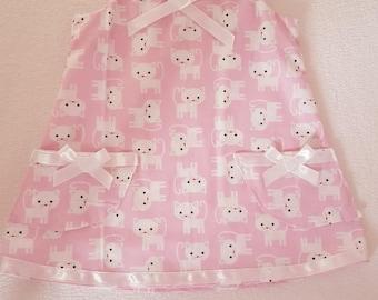 Cute Kitten Pinafore Style Baby Dress