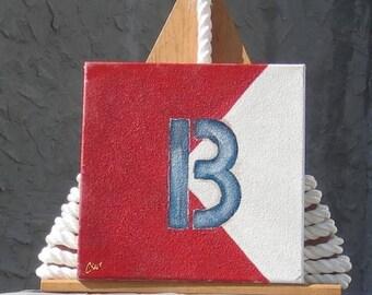 """Signal Flag """"B"""" nautical print"""