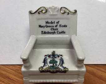 Staffordshire Model of Mary Queen of Scots Chair