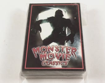 Monster Movie Classics Trading Cards, 50 Card Set, Numbered and Sealed, Limited Edition, Vintage Monster Movie Guide, Reed Inc, Mint