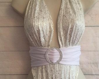 Swimsuit, SwimWear. Bespoke, One Off. Size 10 UK