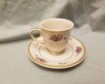 Lamberton ivory china Rose of lamberton Demitasse Teacup and saucer