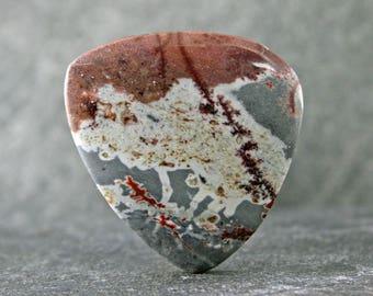 Sonoran Dendridic Rhyolite Designer Cabochon, Rust Red Dendrites in Earth Tones, Freeform Jewlery Gemstone Cabochon, Pendant Stone Cabochon