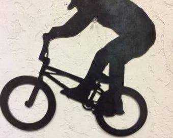 BMX Bike Metal Wall Art
