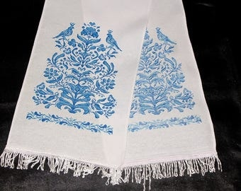 Embroidered Towel Tree of Life embroidered tree Hand Embroidered tree of life gift modern embroidery family tree gift for mom birthday gift