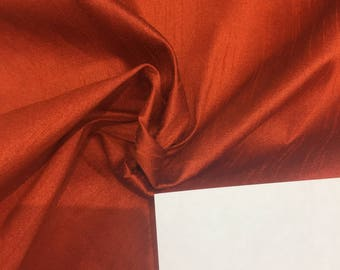 Orange Shantung Faux Silk Polyester Drapery Fabric  by the yard 40 colors