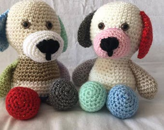 Amigurumi Dog, Amigurumi Puppy, crochet dog, stuffed animal