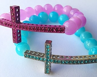 Chamballa Cross Stretch Bracelet
