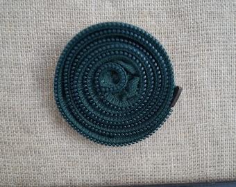 Dark green zipper brooch