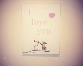 Handmade i love you picture