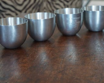 Collection of 4 Pewter Jefferson Cups