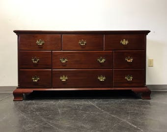High End Mahogany Chippendale Triple 9-Drawer Dresser