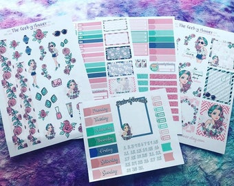 5 page Be your own kind of beautiful set alternative SKIN TONE available great for use with  Erin Condren planner , planner stickers habit