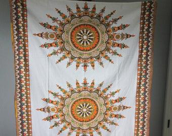 Kenyan Cotton Dashiki Mandala Wall Tapestry / Table Cloth / African Art