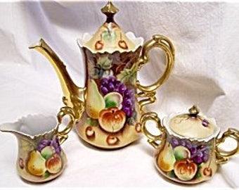 Lefton Brown Heritage Tea Set