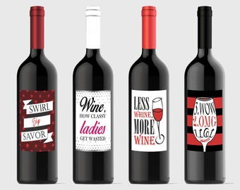 Ladies Night Out Wine Labels
