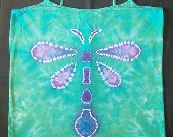 dragonfly tie dye tank top