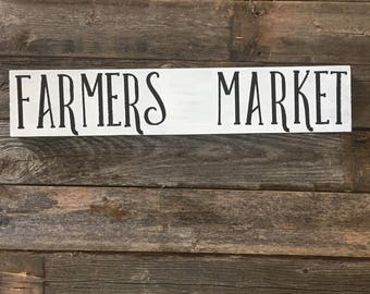 Farmers market wooden sign/ wood sign/ mantel sign/ farmhouse decor
