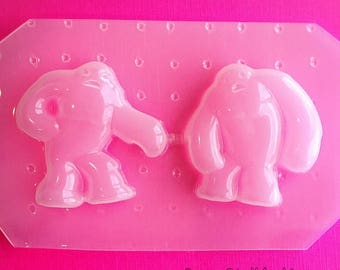 SUMMER SALE 2pc Yeti Snow Monster Flexible Plastic Mold For Resin Crafts Jewelry