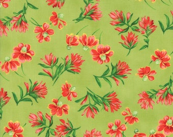 Moda Wildflowers VIII Quilt Fabric 1/2 Yard Grass 33222 15
