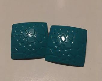 Beautiful Turquoise Post Back Earrings