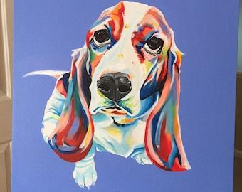 Colorful Dog Portrait - Single Dog