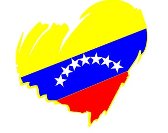 Venezuela Heart Car sticker
