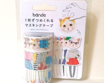 Dress up cat washitape set // Classic chic