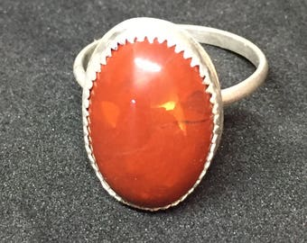 Jasper and Sterling Silver Ring