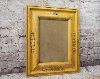 french country cottage picture frame,up-cycled wooden frame,decorative photo frame,wall frame