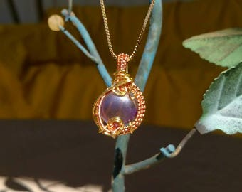 Purple orb pendant