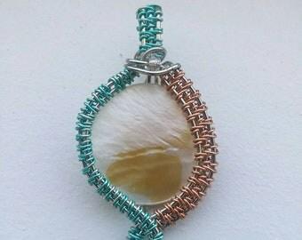 White scap-materials pendant
