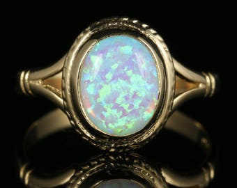 Opal Gold Ring 2.5ct Opal 9ct Gold