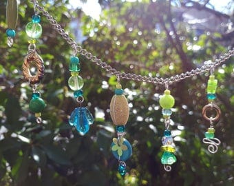 Turquoise & Lime  Fairy Garland – Fairy Garden Accessory BB-11