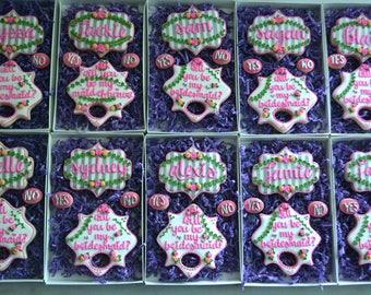 Will you be my Bridesmaid Sugar Cookies - Bridal Party Gifts - Sugar Cookies