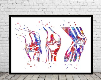 Knee, knee anatomy, knee bones, knee print, watercolor knee, knee art, medical art, medical office decor, Orthopedic Surgeon (4312b)